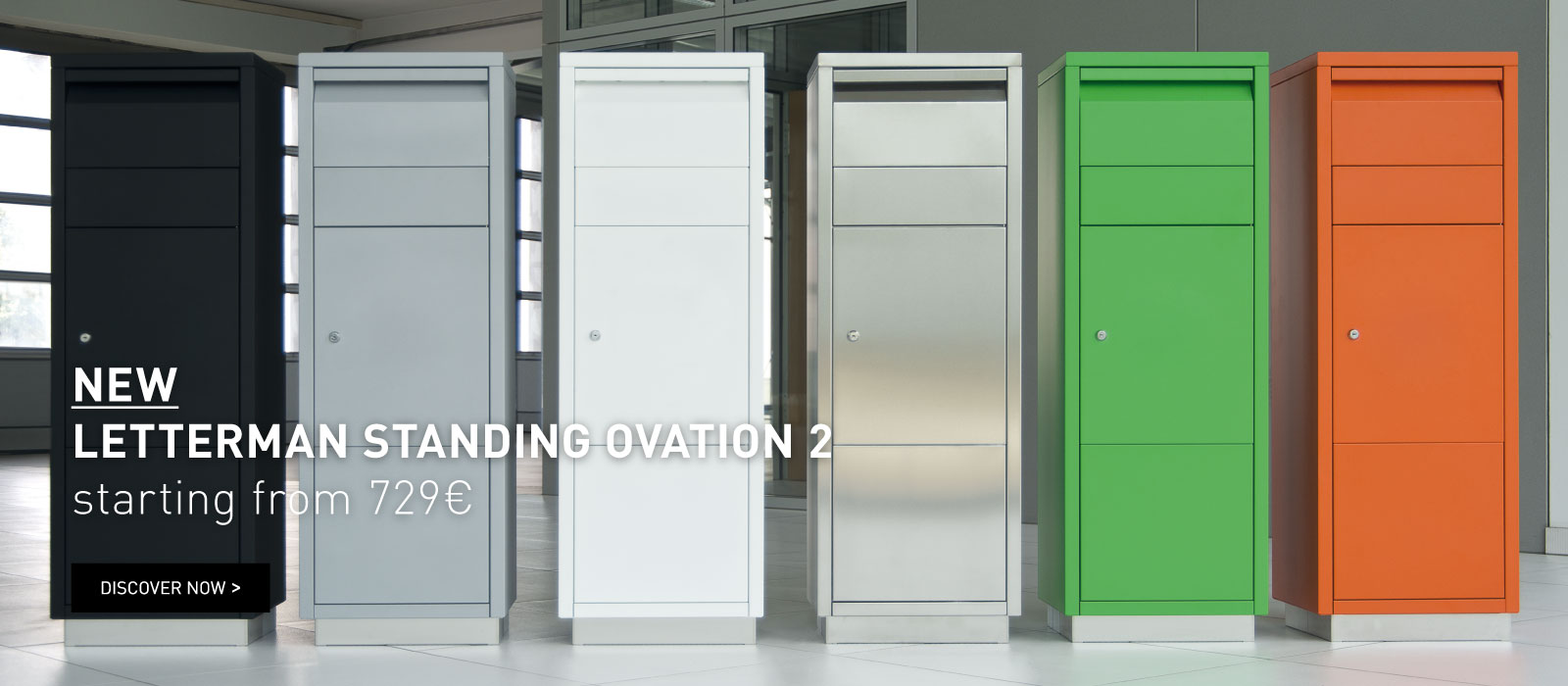 Package box LETTERMAN STANDING OVATION 2| starting from 729 €